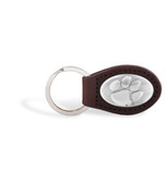 Clemson Tigers Brown Leather Key Chain