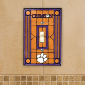Clemson Tigers Art Glass Switch Cover
