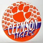 "Clemson Tigers 9"" Dinner Paper Plates"