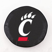 Cincinnati Bearcats Black Tire Cover, Small