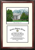 Brigham Young University Scholar Framed Lithograph with Diploma