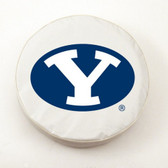 Brigham Young Cougars White Tire Cover, Small