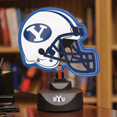 Brigham Young Cougars Neon Helmet Desk Lamp