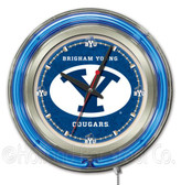 Brigham Young Cougars Neon Clock