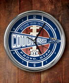 Brigham Young Cougars Chrome Clock
