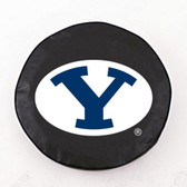 Brigham Young Cougars Black Tire Cover, Small