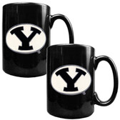 Brigham Young Cougars 2pc Coffee Mug Set