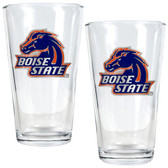 Boise State Broncos 2pc Pint Ale Glass Set