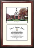 Baylor University Scholar Framed Lithograph with Diploma