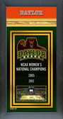Baylor University Lady Bears - Framed Championship Banner