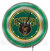 Baylor Bears Neon Clock