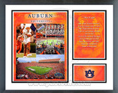 Auburn University Tigers Milestones & Memories Framed Photo