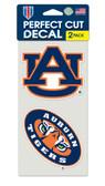 Auburn Tigers Set of 2 Die Cut Decals