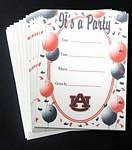 Auburn Tigers Party Invitations