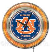 Auburn Tigers Neon Clock