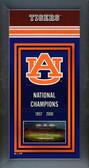 Auburn Tigers Framed Championship Banner