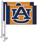 Auburn Tigers Car Flag w/Wall Bracket Set Of 2