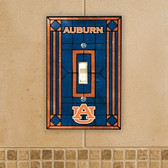 Auburn Tigers Art Glass Switch Cover