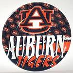 """Auburn Tigers 9"""" Dinner Paper Plates"""