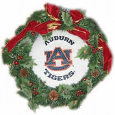 "Auburn Tigers 22"" Fiber Optic Holiday Wreath"