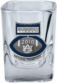 Auburn Tigers 2010 BCS National Champions Football Logo Square Shot Glass Set