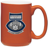Auburn Tigers 2010 BCS National Champions Football Logo Orange Coffee Mug Set