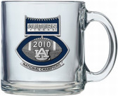Auburn Tigers 2010 BCS National Champions Football Logo Clear Coffee Mug Set