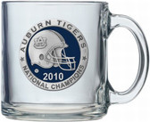 Auburn Tigers 2010 BCS National Champions Clear Coffee Mug Set