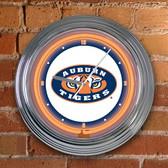 """Auburn Tigers 15"""" Neon Clock"""