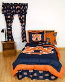 Auburn Bed in a Bag Twin - With Team Colored Sheets