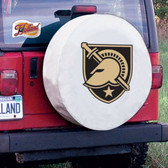 Army Black Knights White Tire Cover, Large
