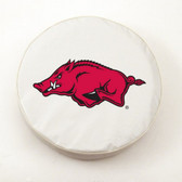 Arkansas Razorbacks White Tire Cover, Small
