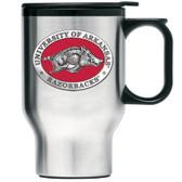Arkansas Razorbacks Stainless Steel Travel Mug