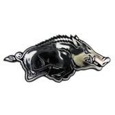 Arkansas Razorbacks Silver Auto Emblem