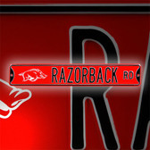 Arkansas Razorbacks Razorback Road Street Sign