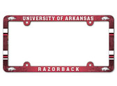 Arkansas Razorbacks License Plate Frame - Full Color