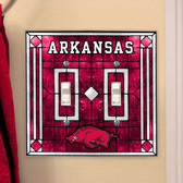 Arkansas Razorbacks Double Lightswitch Cover