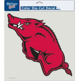 "Arkansas Razorbacks Die-Cut Decal - 8""x8"" Color"