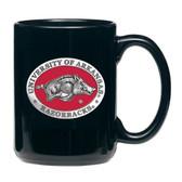 Arkansas Razorbacks Black Coffee Mug Set