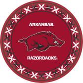 """Arkansas Razorbacks 9"""" Dinner Paper Plates"""