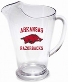 Arkansas Razorbacks 64 oz. Crystal Clear Plastic Pitcher