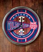 Arizona Wildcats Chrome Clock