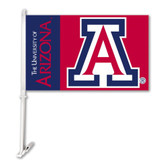 Arizona Wildcats Car Flag w/Wall Bracket Set Of 2