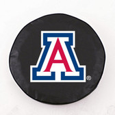 Arizona Wildcats Black Tire Cover, Large