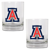 Arizona Wildcats 2pc Rocks Glass Set
