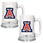 Arizona Wildcats 2pc Glass Tankard Set