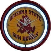 Arizona State Sun Devils Plasma Clock