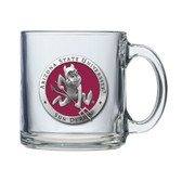 Arizona State Sun Devils Colored Logo Clear Coffee Mug Set