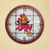 "Arizona State Sun Devils 12"" Art Glass Clock"