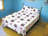 Alabama Crimson Tide White Sheet Set (King)